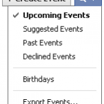 iPhone Calendar Facebook Events